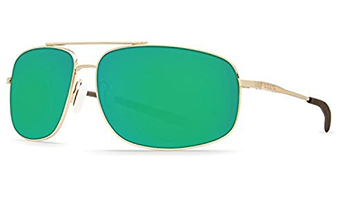 Costa Shipmaster Sunglasses & Cleaning Kit Bundle Shiny Gold / Green Mirror 580p