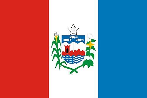DIPLOMAT-FLAGS Alagoas Flag | Landscape Flag | 0.06m² | 0.65sqft | 20x30cm | 8x12in Car Flag Poles