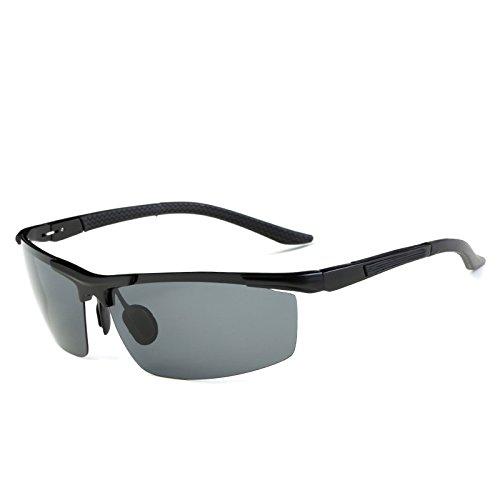 magnesio en Gafas Gafas Silver de y Montar Hombres de Black Color de polarizadas Deportivas Bicicleta Aleación Sol Baianf Gafas Aluminio 16SIPq