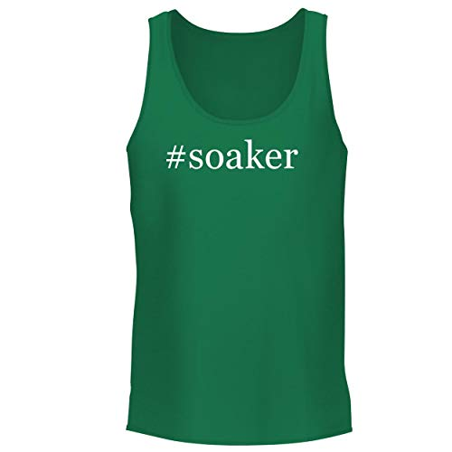 (BH Cool Designs #Soaker - Men's Graphic Tank Top, Green, Small)