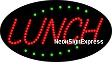 Animated Lunch LED Sign