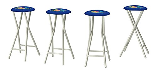Tov Furniture Denmark Stainless Steel Counter Stool Set of 2 , White