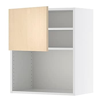 IKEA FAKTUM - Mueble de pared para horno de microondas, chapa de abedul Nexus
