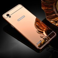 Oppo-Neo-7-Luxury-Metal-Bumper-Acrylic-Mirror-Back-Cover-Case-For-Oppo-Neo-7-By-Vinnx-Golden