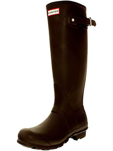 Boots Rain Rubber Brown (Hunter Women's Original Tall Bitter Chocolate Knee-High Rubber Rain Boot - 8M)