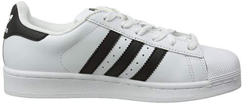 adidas mens Super Star Sneaker, Ftwwht/Cblack/Ftwwht, 12 US