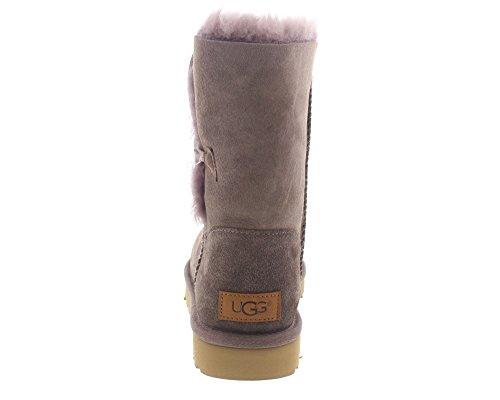 UGG Damen Bailey Button II Winterstiefel Stürmisches Grau
