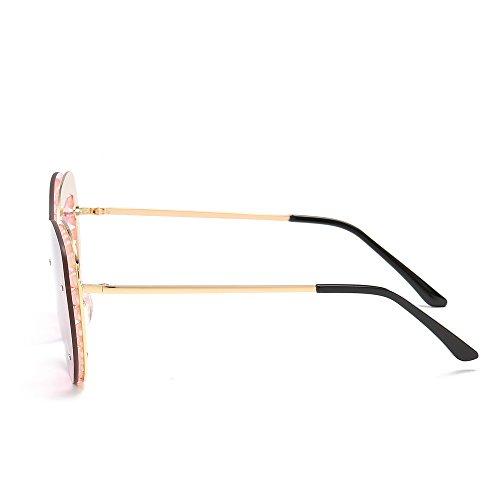 Verano la con de de de el Caramelos la TL UV400 Mujer Señor Mujer Verde de Color para Sunglasses Gafas Gafas de de Perla Regalo Rosa Playa Sol Amarillo Sol wCCqTczg