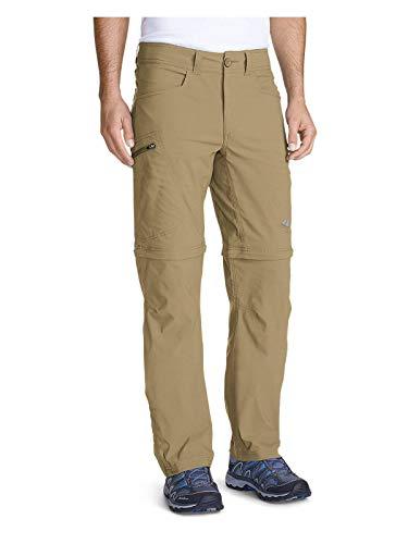 Eddie Bauer Men's Guide Pro Convertible Pants, Saddle Regular 33/34 (Shorts Spandex Climbing)