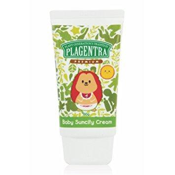 PLAGENTRA Baby Suncity Cream - Natural Sunscreen, 2.11 Ounce