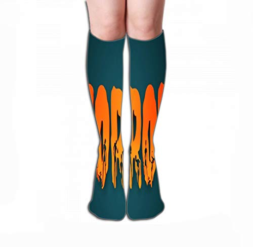 Xunulyn Women's Knee High Socks Athletic Mid-Calf Socks 19.7