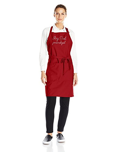 Custom Uncommon Threads Add Any Text Twill Apron, Red,