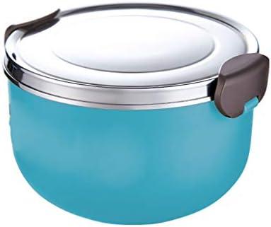 保温 弁当箱 子供のためのThermosステンレス製フードフラスコ、1000mlは熱い1時間を保ちます (Color : Blue)