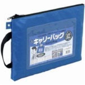 生活日用品 (業務用30セット) キャリーバッグ CB-400-BU A4 マチ無 青 B074MLX71G