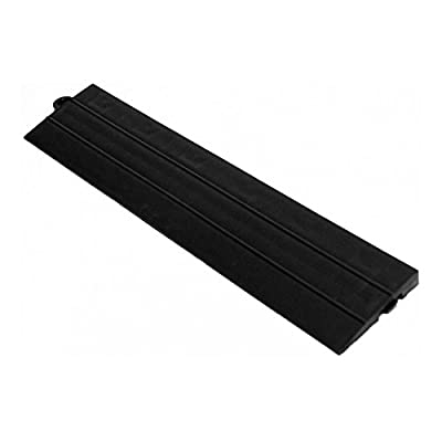 Speedway Garage Tile M789453B Garage Floor Male Ramp Edges without Loops, Black