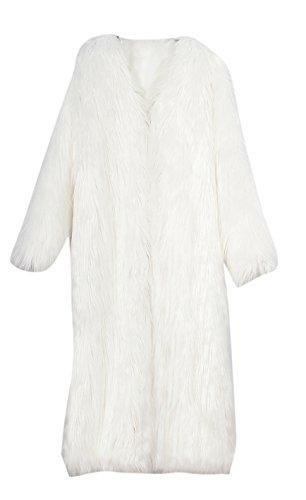 3 4 Length Coats - Women's Winter Fashion Long Maxi Outerwear Faux Fur Coat Full Length
