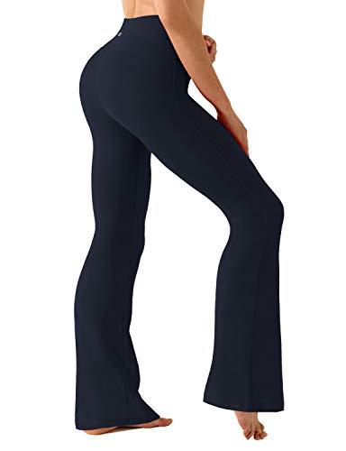 Bootcut Yoga Pants High Compression Running Pants High Waist Tummy Control UPF30+, DarkNavy, X-Large(29''inseam)