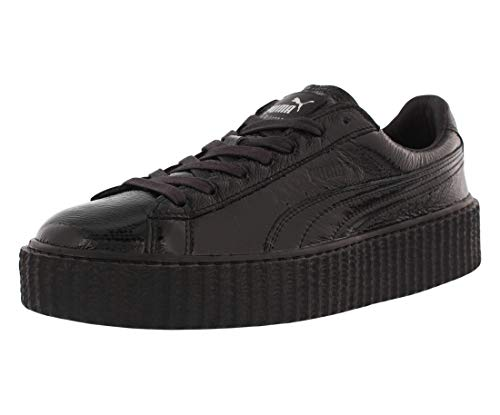 Puma Speed Cat Athletic Shoe - PUMA Women's Creeper Wrinkled Patent Black Black Athletic Shoe