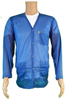 - StaticTek Full Sleeve V Neck ESD Jacket | Anti-Static Snap Cuffs Lab Coat | Certified Level 3 Static Shielding | Light Weight | ESD Smocks with High Protection | 3X-Large | Light Blue | TT_JKV8827