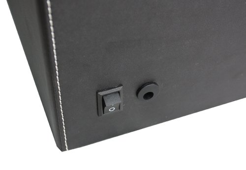 TimelyBuys 4 + 6 Quad Black Leatherette Automatic Watch Winder & Storage Case