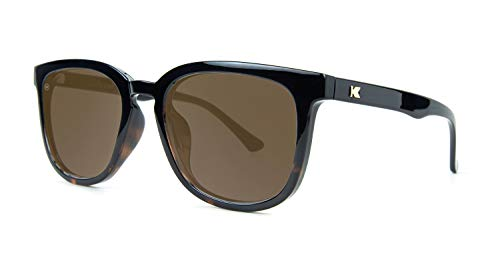 Knockaround Paso Robles Polarized Sunglasses With Black And Tortoise Shell Frames/Brown Lenses