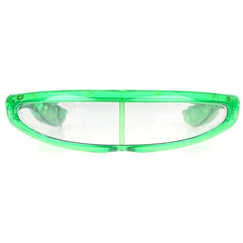 Spaceman UFO Light Up LED Glasses / Shades - Green - Space Shades