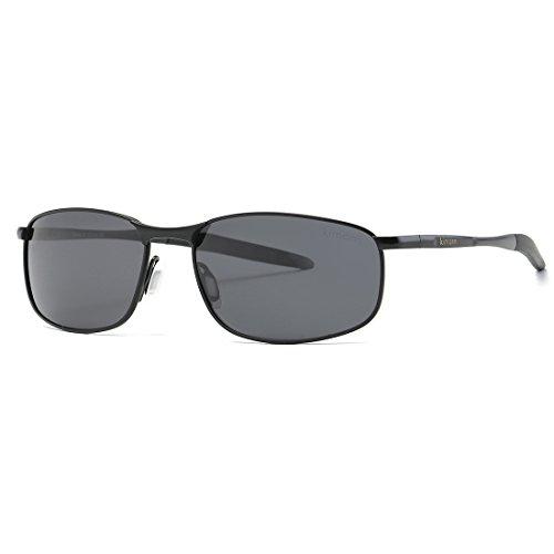 Gafas K0535 Hombre Polarizado sol de metal Retro Rectangulares Negro kimorn Marco HqOwpxCq