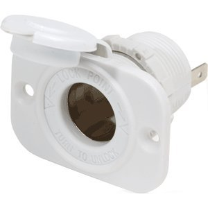 Blue Sea Systems - Blue Sea 12Vdc Dash Socket White ''Product Category: Electrical/Accessories''