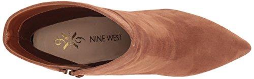 Medium Skinn Ankel Nine West Kvinners Mørk Naturlig Semsket Argyle Boot Zx67T