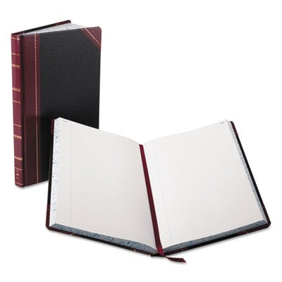 Record/Account Book, Black/Red Cover, 300 Pages, 14 1/8 x 8 5/8, Sold as 2 Each