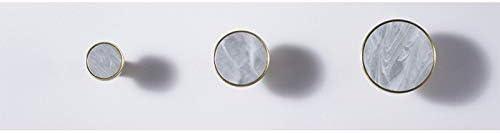 dekorativ rund Artily Griffkn/öpfe Messing Schrankgriffe T/üren Schubladen Marmor A-1 einfach Messing Zuggriff f/ür Schr/änke 3.2x3.2x2.5cm