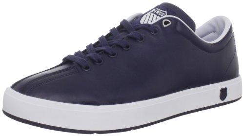 K-SWISS Men's Clean Classic Low Fashion Sneaker,Navy/White,9