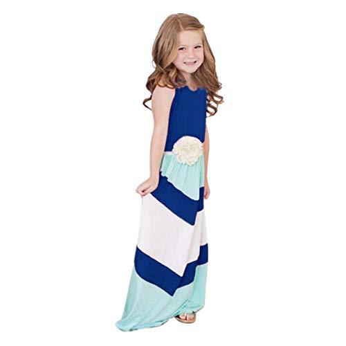 Anboo Summer Boho Long Party Maxi Dress Matching Mother Daughter Dresses (Daughter Dress)