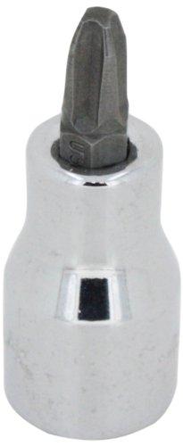 SK Hand Tool 44482 Number-2 Phillips Bit Drive Socket, Screwdriver, 1/4-Inch, Chrome 2 Phillips Screwdriver Bit Socket