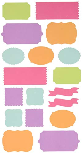 Sticko 52-72044 Bright Solids Label Stickers, Multi