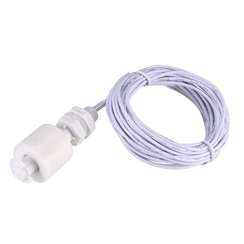 uxcell PP Float Switch 47.5mm/1.87inch Fish Tank Vertical Liquid Water Level Sensor Plastic White with 2M Long Cable