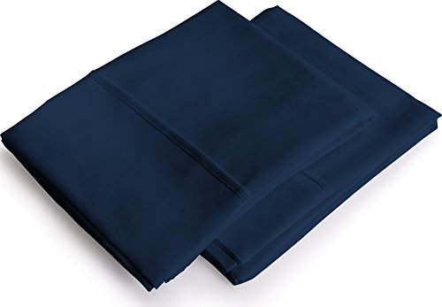 Pillowcases 2 Pack - King Navy ? Brushed Microfiber Pillow Cover - Maximum Softness - Elegant Double-Stitched Tailoring - Reduces Allergies and Respiratory Irritation - by Utopia Bedding