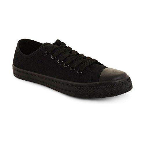 Footwear Sensation - Zapatos de cordones para mujer negro negro negro