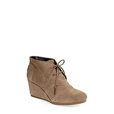 TOMS Women's Desert Wedge Casual Shoe (12 B(M) US, (Taupe))