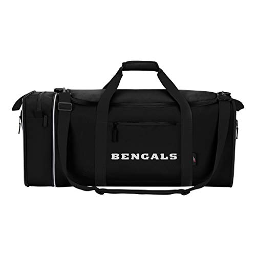 The Northwest Company NFL Cincinnati Bengals NFL Steal Duffel, Black, Measures 28'' in Length, 11'' in Width & 12'' in Height by The Northwest Company