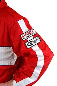 G-Force 4381SMLRD GF 105 Red Small Single Layer Racing Jacket