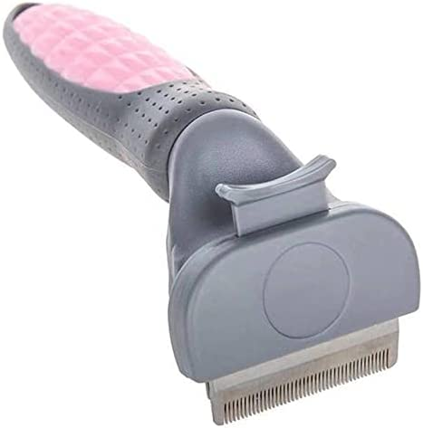 JWDS Pet brush Pet Dog Cat Professional Self Cleaning Dog Comb Comfortable Handle Long Short Hair Pet Brush Grooming Deshedding Tool
