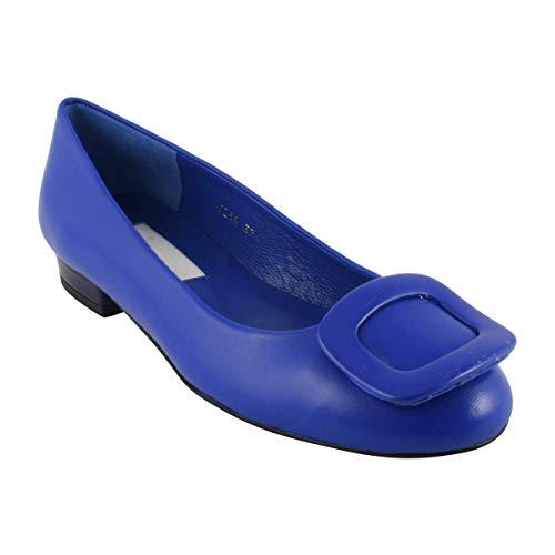 Bailarinas Mujer Exclusif Paris Para Cobalto Azul 4n5xzH