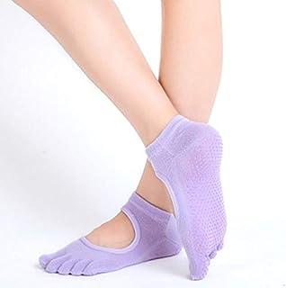 HATCHMATIC 1 Paire Orts Chaussettes Une Bonne flexibilité en Mesure Chaussettes de Yoga de Coton pour la Taille Dance Fitness ortswear Balle Accessoires pour 34-39: Violet