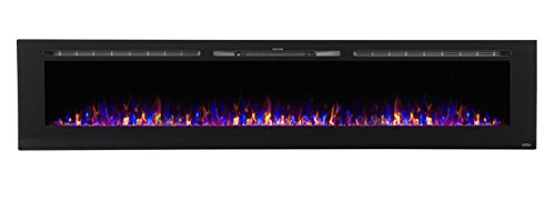 Touchstone 80032 Sideline Recessed Mounted Electric Fireplaces (100 Inches)