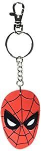 """Nj Croce Pvc Spider-Man Face 3"""" Bendable Keychain - Red"""