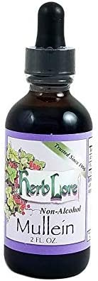 Herb Lore Mullein Leaf Tincture - 2 fl oz - Non Alcohol - Herbal Dry Cough Relief - Lung Detox & Lung Cleanse for Smokers