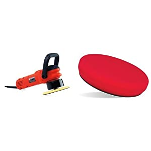 "Griot's Garage 10813STDCRD 6"" Random Orbital Polisher with 6.5"" Red Foam Waxing Pad"