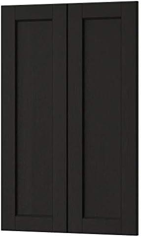 LERHYTTAN - Juego de armarios de esquina con 2 puertas y esquinas, color negro: Amazon.es: Bricolaje y herramientas