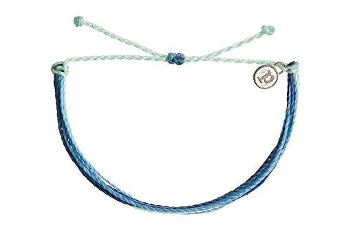 Pura Vida Indigo Daze Bracelet - Handcrafted with Iron-Coated Copper Charm - Wax-Coated, 100% Waterproof